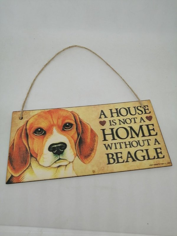 Holzschild Beagle